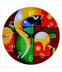 Abstract Ganesha Polymer Analog Wall Clock RC-0551