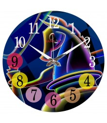 Abstract Horse Polymer Analog Wall Clock RC-0552