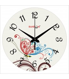 Colorful Butterfly Polymer Analog Wall Clock RC-0555