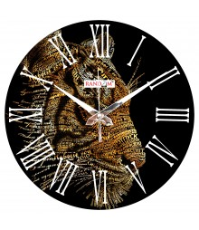 Creative Lion Polymer Analog Wall Clock RC-0556