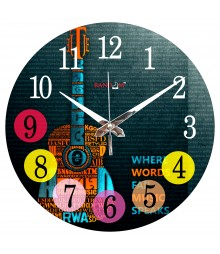 Digital Guitar Polymer Analog Wall Clock RC-0559