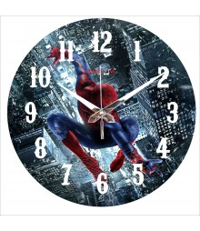 Jumping Spiderman Polymer Analog Wall Clock RC-0560