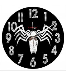 Black Spider Polymer Analog Wall Clock RC-0563