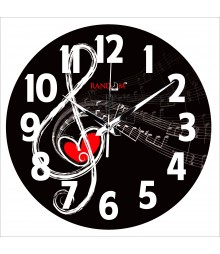 Music In Air Polymer Analog Wall Clock RC-0566