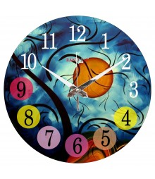 Night View Polymer Analog Wall Clock RC-0567