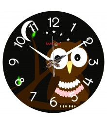 Owl In Moonlight Analog Wall Clock RC-0569