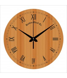 Wooden Background Analog Wall Clock RC-0570