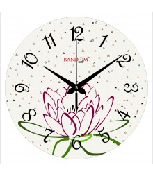 Snow Flower Polymer Analog Wall Clock RC-0572