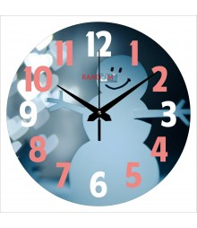 Snowman Polymer Analog Wall Clock RC-0573