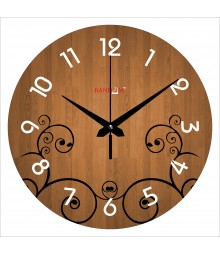 Woodies Polymer Analog Wall Clock RC-0575
