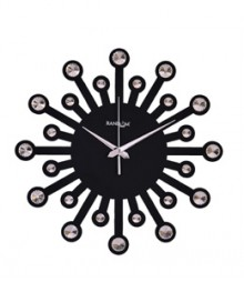 Random Jewel 24 Carat Analog Wall Clock RC-0702-BLACK
