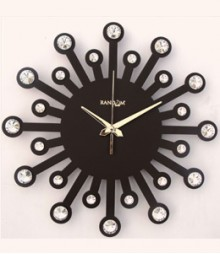 Random Jewel 24 Carat Analog Wall Clock RC-0702-ch-Brown