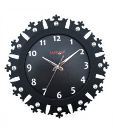 Random Jewel Crown Analog Wall Clock RC-0703-BLACK