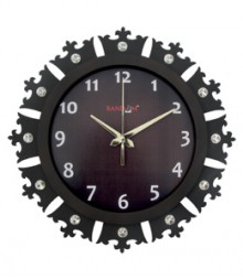 Random Jewel Crown Analog Wall Clock RC-0703-Ch-Br