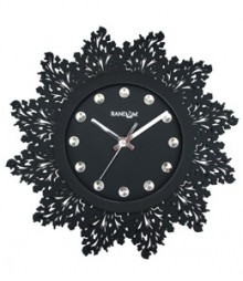 Random Jewel Artistics Analog Wall Clock RC-0704-BLACK