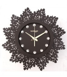 Random Jewel Artistics Analog Wall Clock RC-0704-Ch-Br