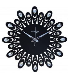 JEWEL FLORAL Analog Wall Clock RC-0705-BLACK