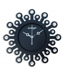 Random 24 Carat Black Analog Wall Clock RC-0707-Glass-Covered