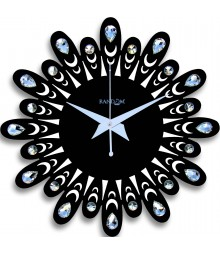 Jewel Floral 12 Inches Analog Wall Clock RC-0708