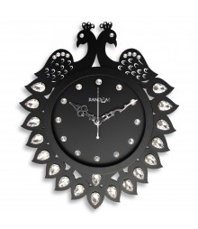 New Jewel Floral Wooden Analog Wall Clock RC-0710