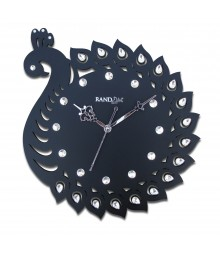 Royal Peacock Wooden Analog Wall Clock RC-0719
