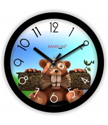 Colorful Wooden Designer Analog Wall Clock RC-2008