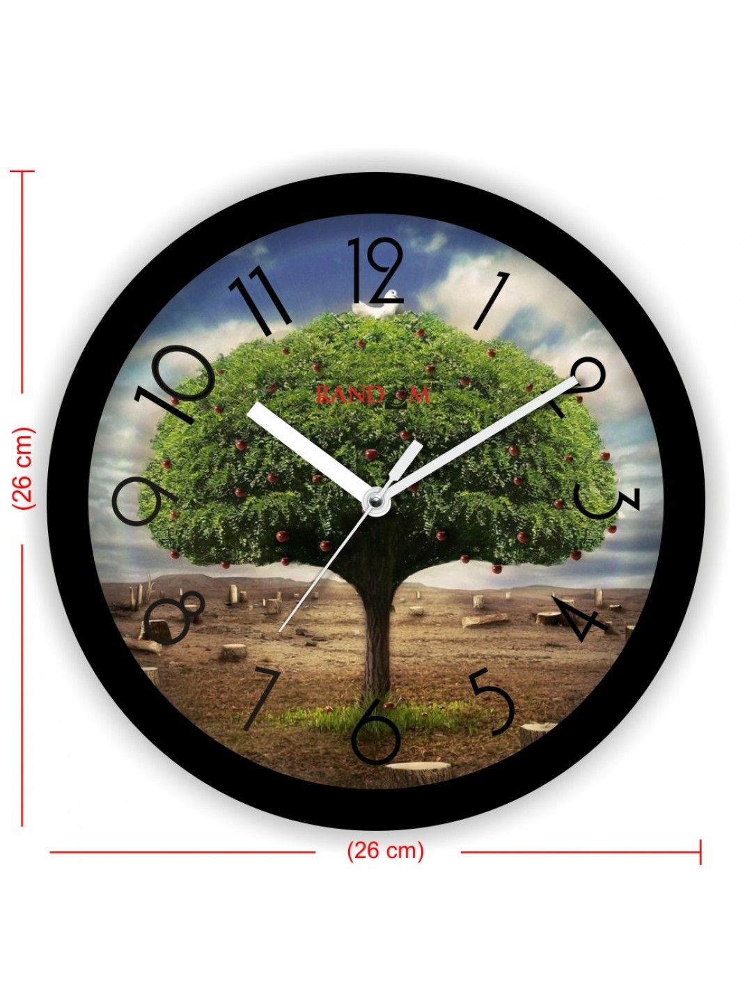 Colorful Wooden Designer Analog Wall Clock Rc 2012