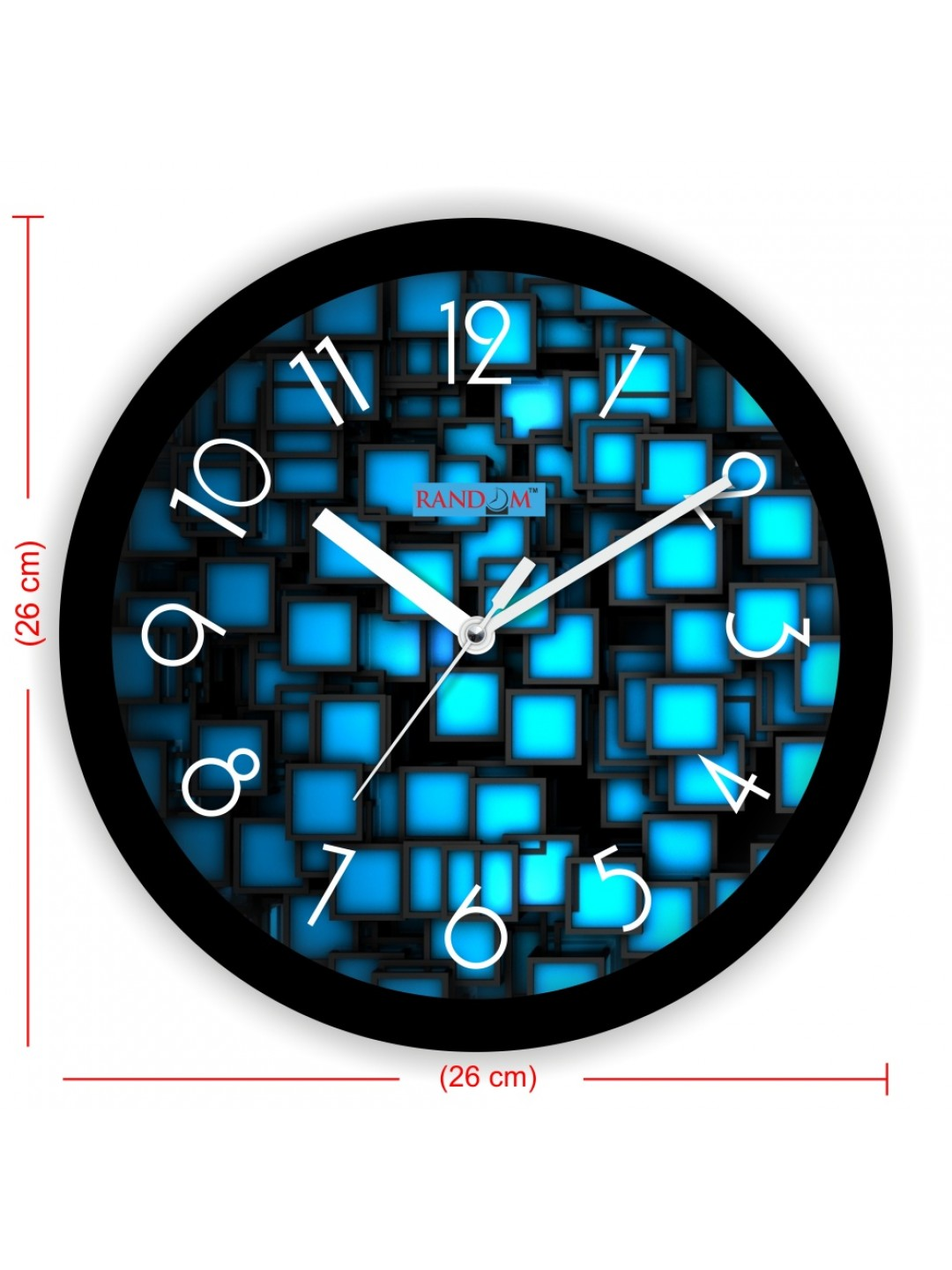 Colorful Wooden Designer Analog Wall Clock RC-2016