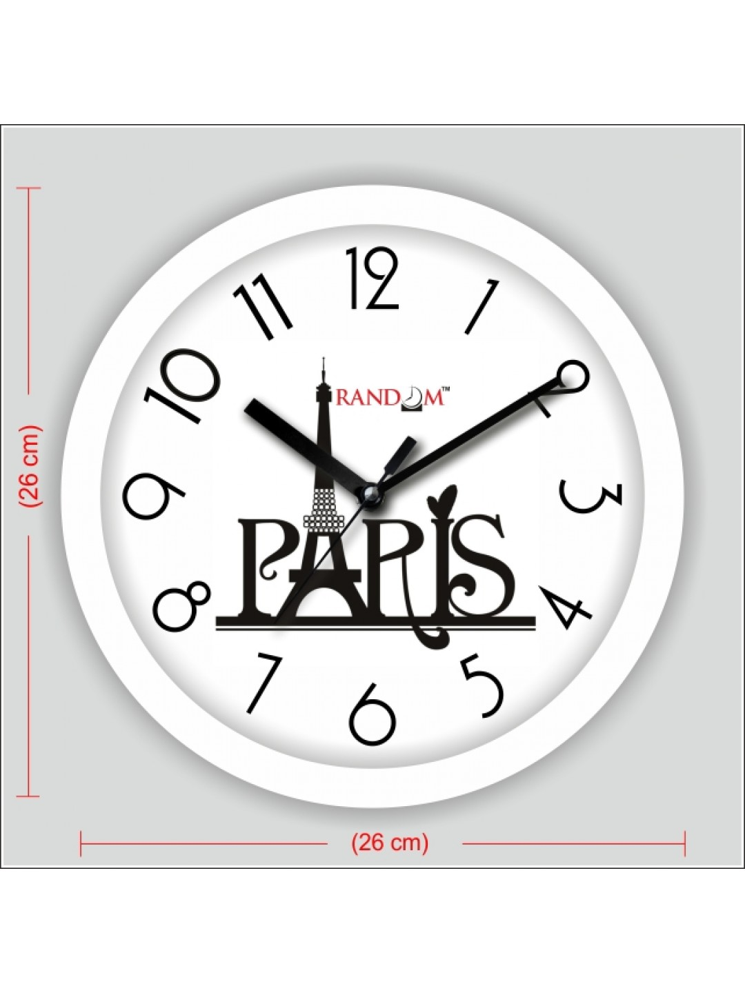 Colorful Wooden Designer Analog Wall Clock Rc 2502