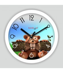 Colorful Wooden Designer Analog Wall Clock RC-2508