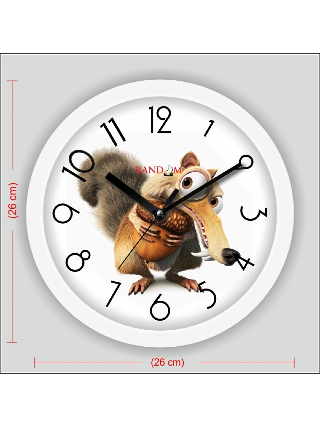 Colorful Wooden Designer Analog Wall Clock Rc 2510