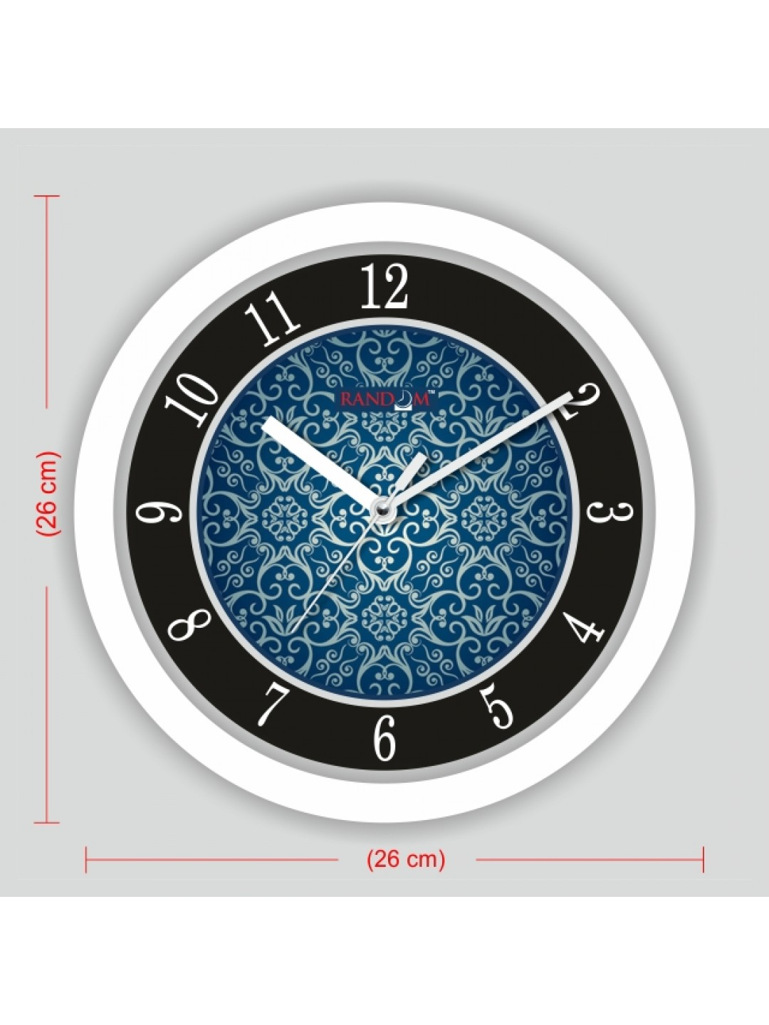 Colorful Wooden Designer Analog Wall Clock Rc 2517