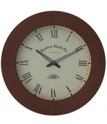Random Leather Art Analog Wall Clock RC-3501-BROWN