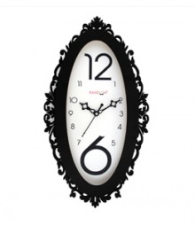 Random Ovi Black Analog Wall Clock RC-0318-BLACK