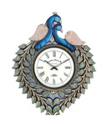 Random Peacock Large Green Analog Wall Clock RC-0409