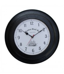 Random Black Metal Analog Wall Clock RC-0414