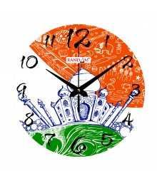 Taj The wonder Analog Wall Clock Rc-0538-Taj-The-wonder