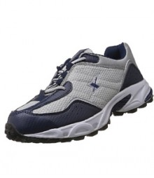 Sparx Perforated Blue & Silver Sports Shoes SM04-NB-SL