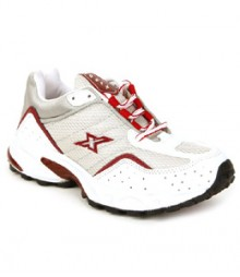 Sparx Men's Silver & Red Running Shoes SM04-WSR