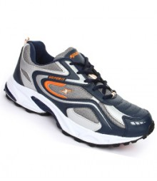 Sparx Navy Blue & Orange Men Sports Shoes SM171-NB-OR