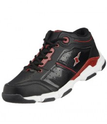Sparx Men Black & Red Sports Shoes SM174-BL-RD