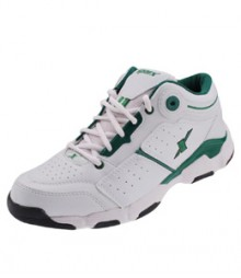 Sparx Men White & Green Sports Shoes SM174-WH-GR
