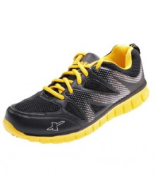 Sparx Avid Black & Yellow Sports Shoes SM178-BL-YL