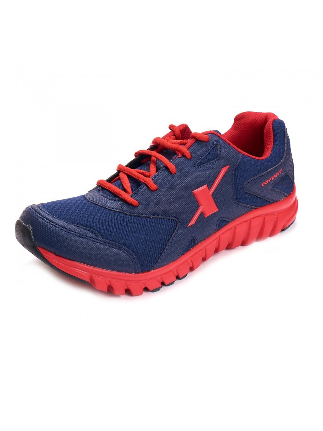 Sparx Men Sports Shoes In Blue Amp Red Color Sm185 Bl Rd