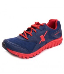Sparx Men Sports Shoes in Blue & Red Color SM185-BL-RD