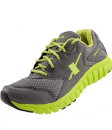 Sparx men's Grey & Green Sports Shoes SM185-GG