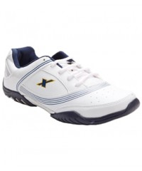 Sparx Men's Sports Shoes White & Blue SM186-WB