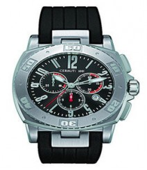Cerruti Mens Black Dial Color Chrono Watch - CT-206