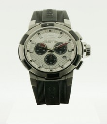 Cerruti Mens White Dial Color Chrono Watch - CT-360
