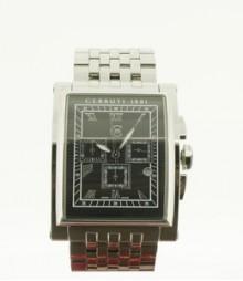 Cerruti Mens Black Dial Color Chrono Watch - CT-368